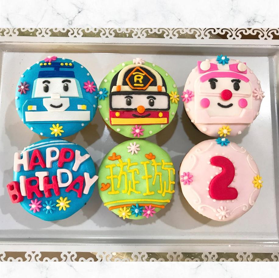 《救援小英雄波力Poli》 生日蛋糕組6顆組