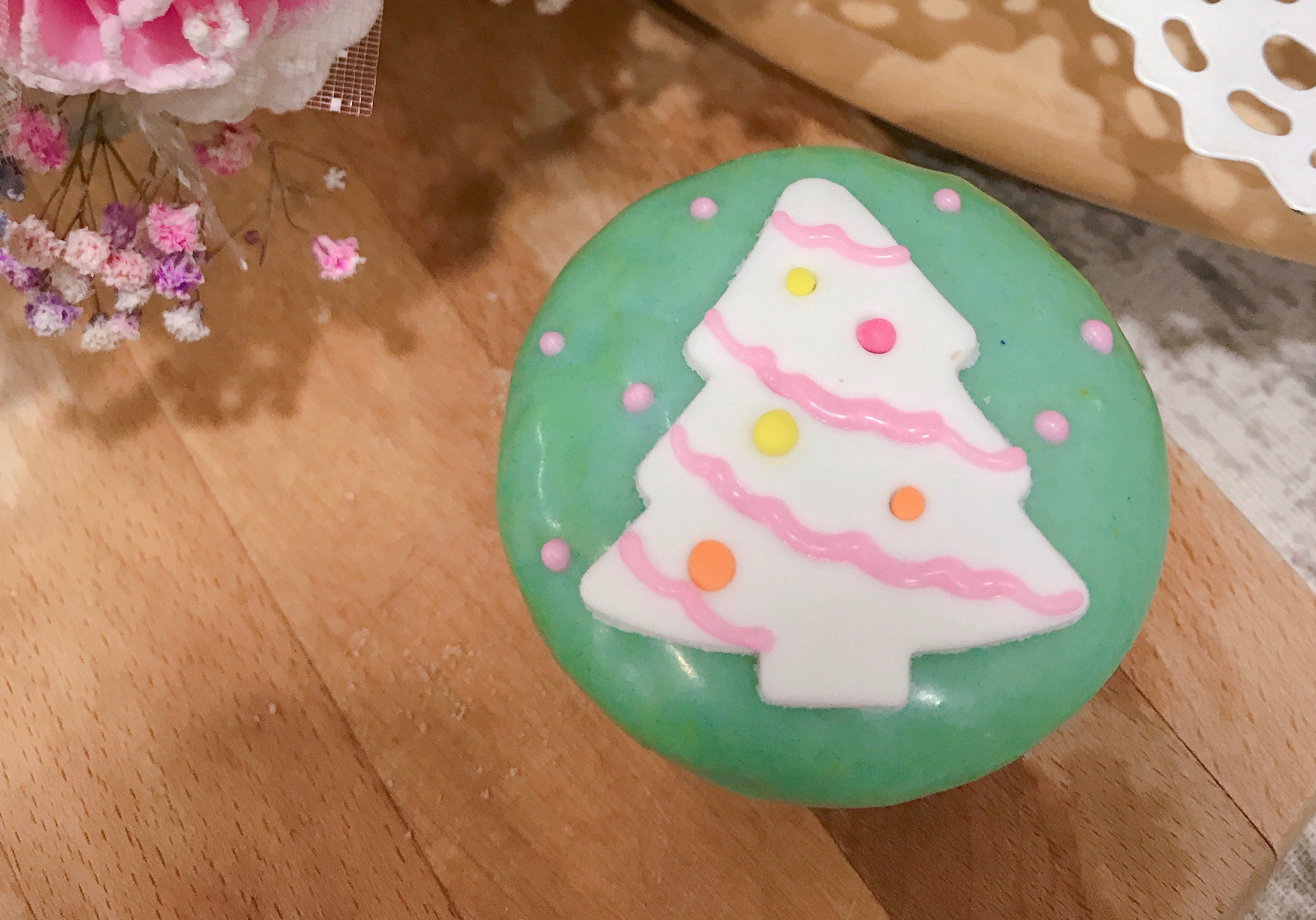 聖誕節 造型杯子蛋糕~~迷妳款~白聖誕樹造型10入組