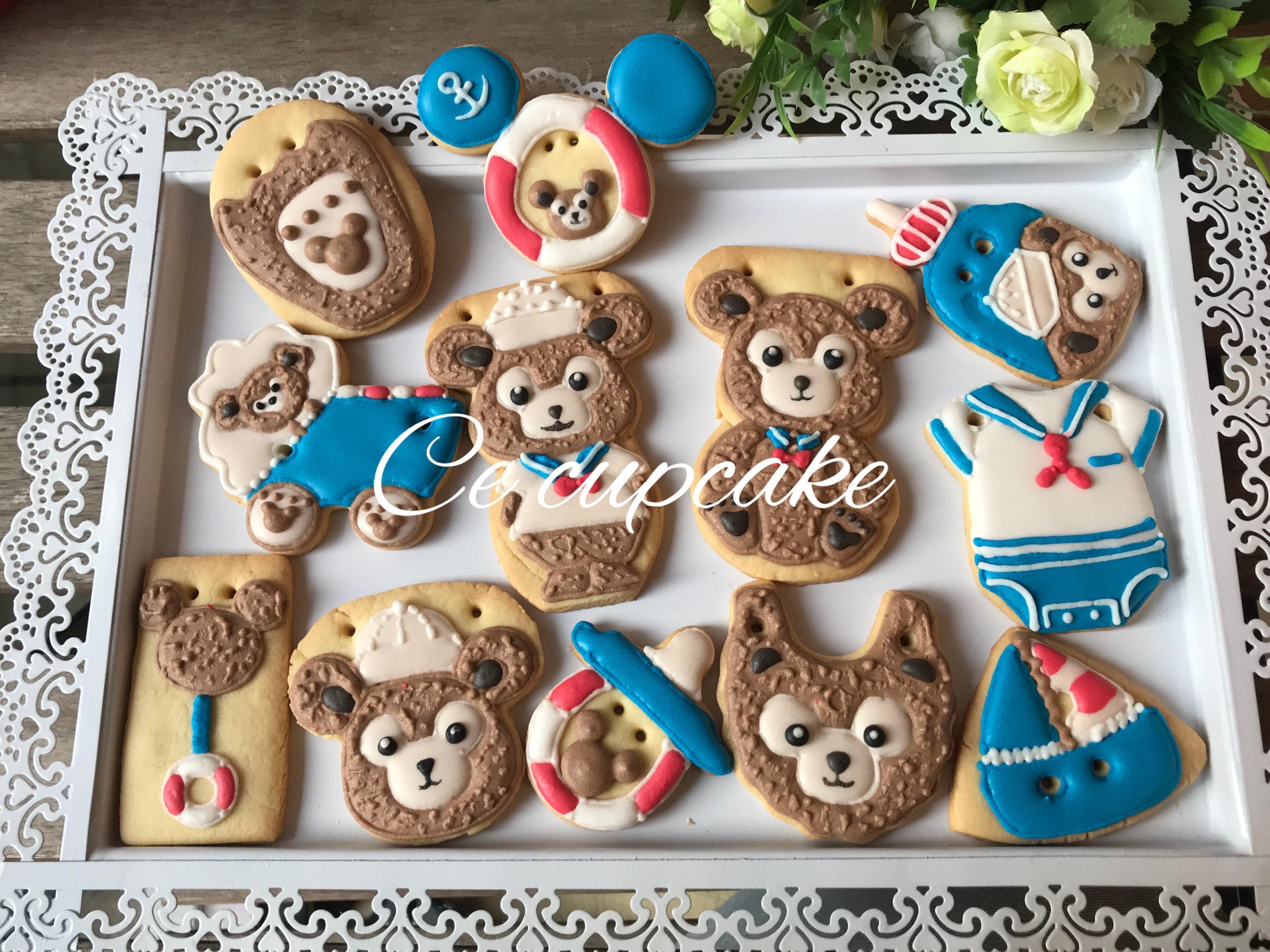 熊熊收涎糖霜餅乾
