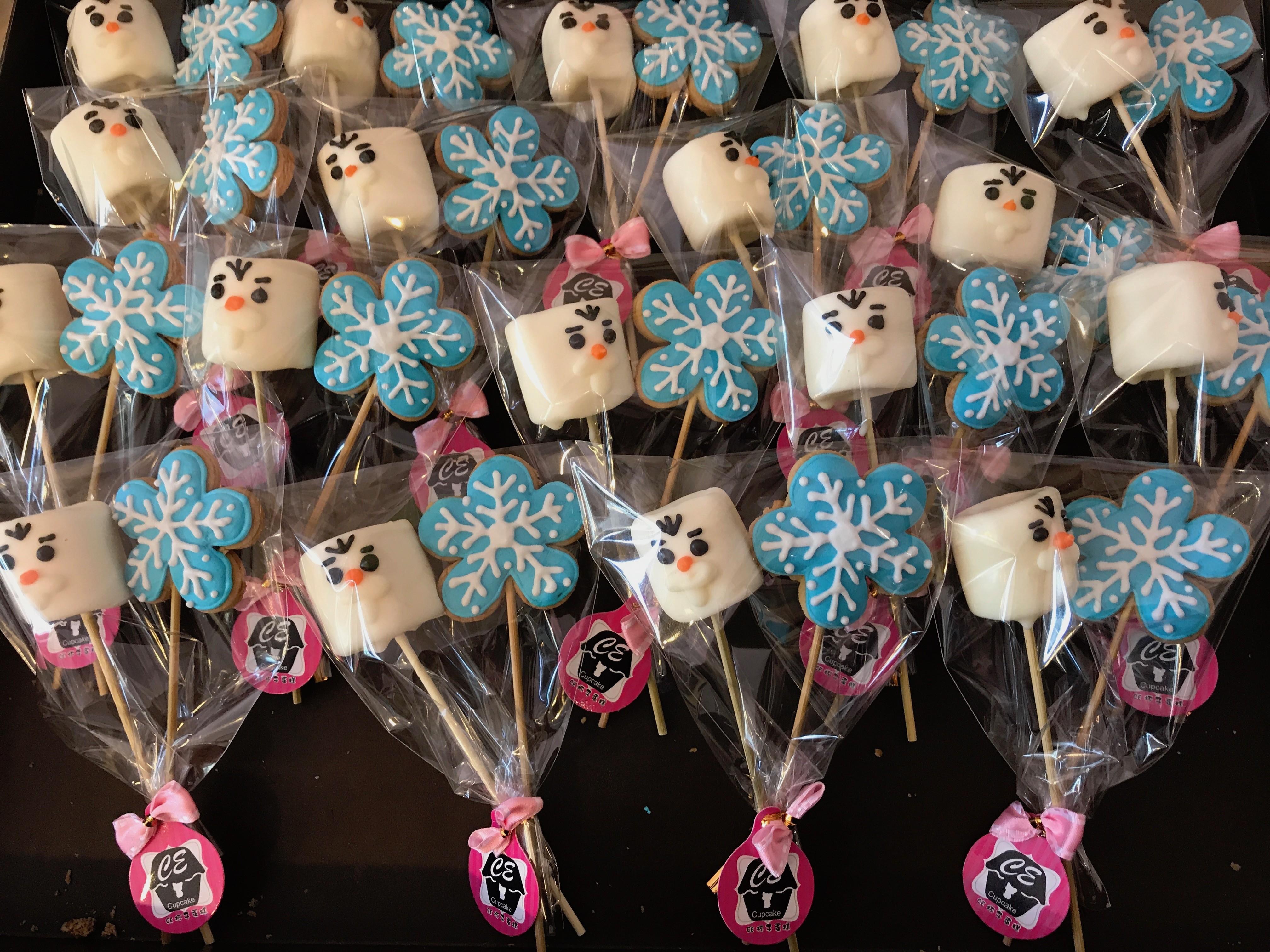 雪寶與雪花棉花糖餅乾組 10組