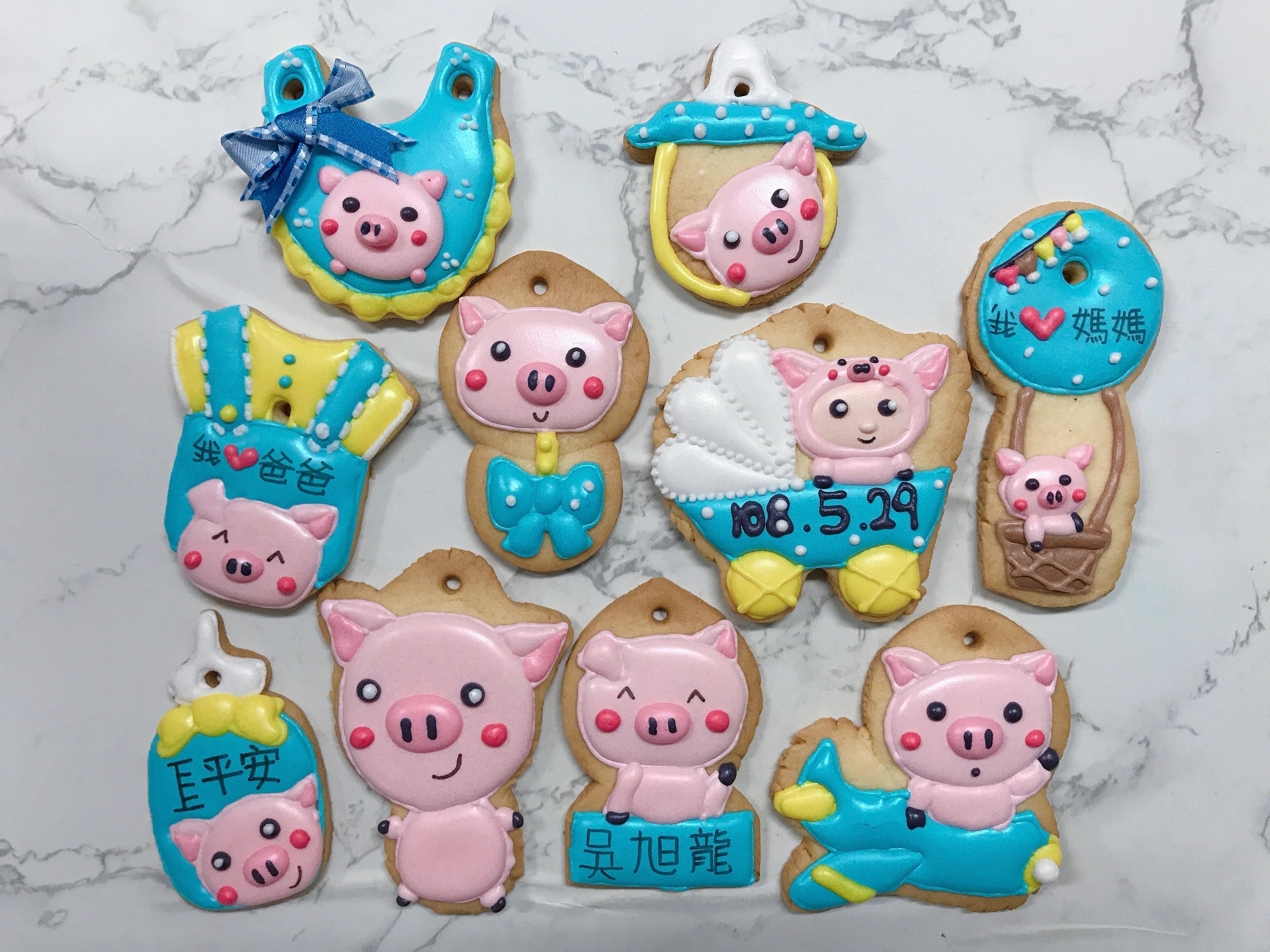 小豬豬~收涎糖霜餅乾