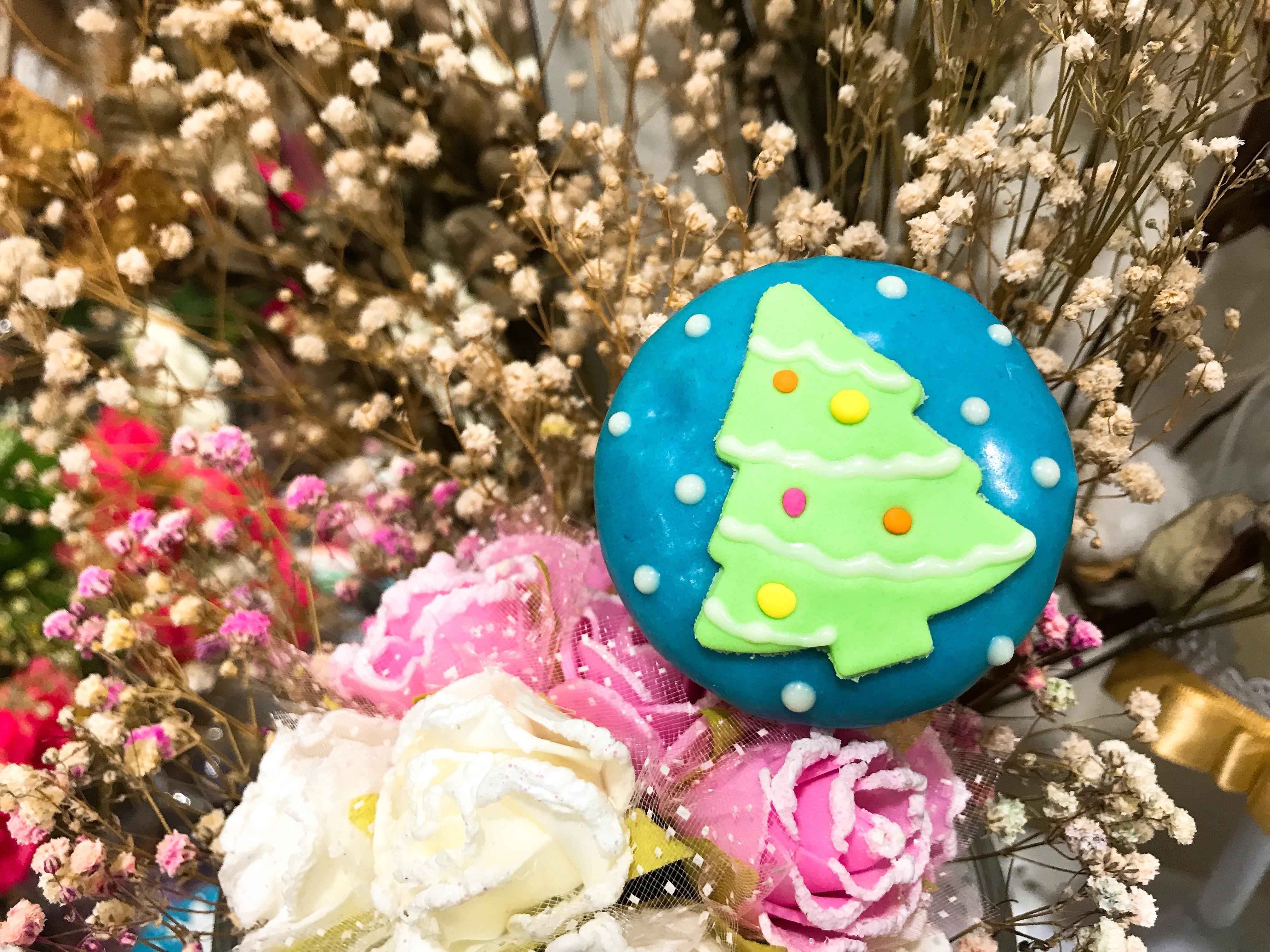 聖誕節 造型迷你杯子蛋糕~~綠色聖誕樹 10入