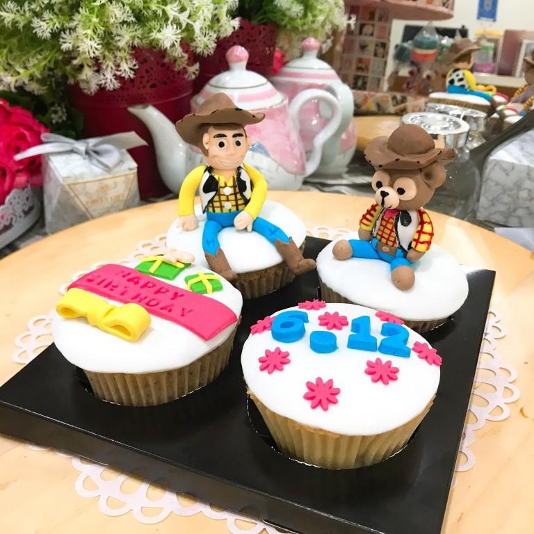 胡迪 胡迪熊 立體 生日蛋糕組4顆組