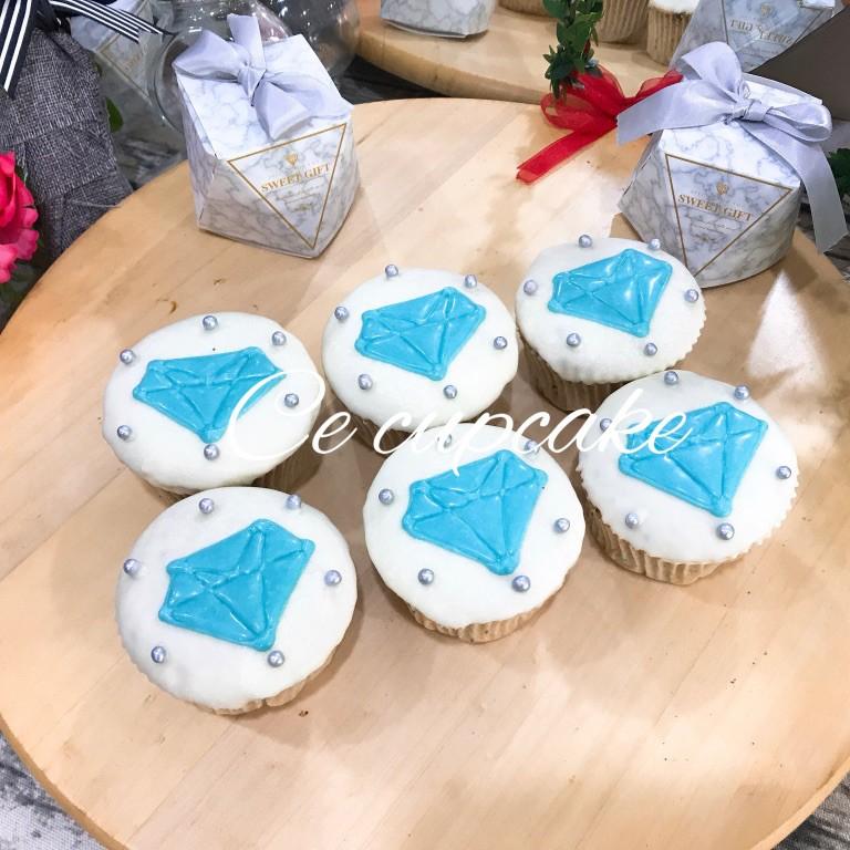 鑽石 杯子蛋糕 6顆組