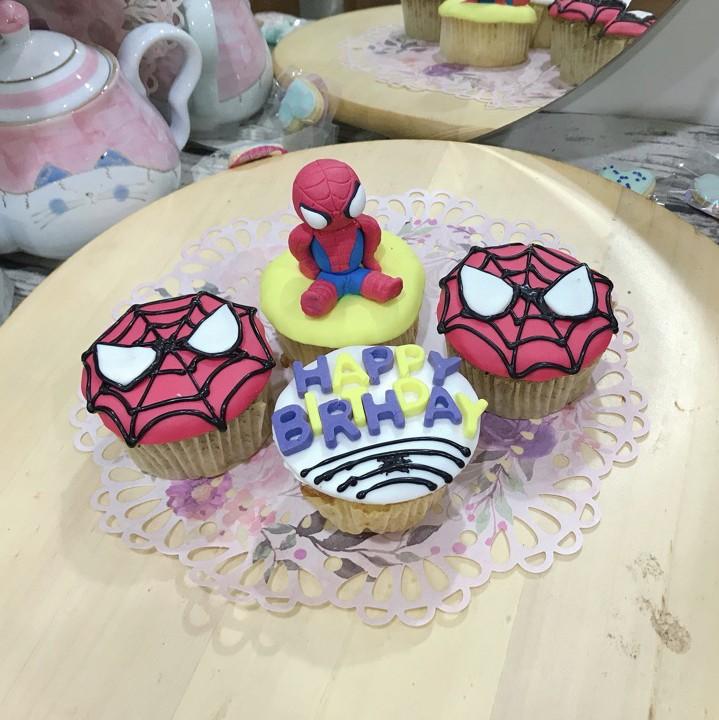 立體平面蜘蛛人 生日蛋糕組 4顆組