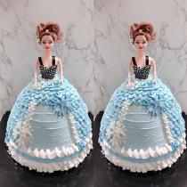 芭比立體蛋糕