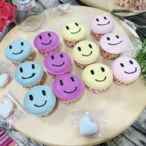 微笑款 迷你杯子蛋糕 巧克力表面 10入組