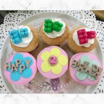 積木樂高~生日組合杯子蛋糕6入  CE杯子蛋糕