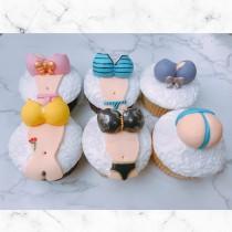 夏季 清涼限字級~杯子蛋糕6入 CE杯子蛋糕