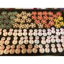 可愛小雪人 糖霜餅乾 10個