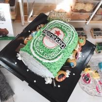海尼根造型蛋糕 吋