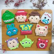 玩具總動員 糖霜餅乾10片組