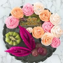 創意拉錢裱花  蛋糕