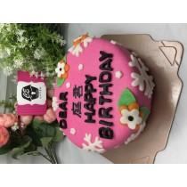 生日基本款 6吋 翻糖蛋糕