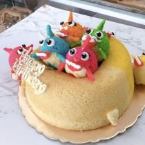 鯊嘟嘟 戚風造型 蛋糕
