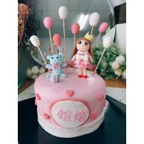 女孩玩偶 6吋翻糖蛋糕