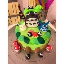 龍貓 6吋立體翻糖蛋糕