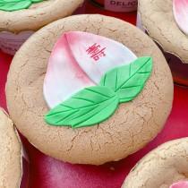 6吋 壽桃造型裸蛋糕 戚風蛋糕 原味戚風