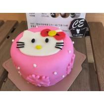 Kitty 6吋 翻糖蛋糕