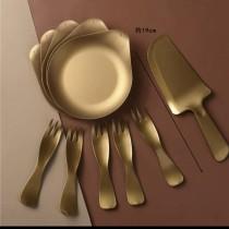 加購 金色蛋糕盤5入組