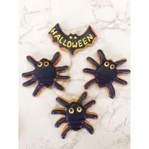 萬聖節 糖霜餅乾 蜘蛛 4片組