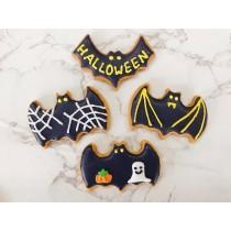 萬聖節 糖霜餅乾 蝙蝠 4片組