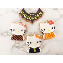 萬聖節 糖霜餅乾 kitty 4片組