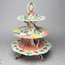 復古玫瑰花 杯子蛋糕架  加厚款 紙質可重複使用