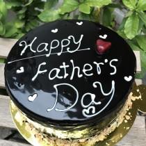 父親節寫字 黑巧克力 8吋鏡面蛋糕