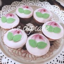 壽桃 翻糖杯子蛋糕 6入組