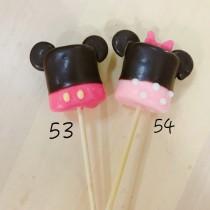 照型棉花糖 耳朵米奇米妮 10隻為一組