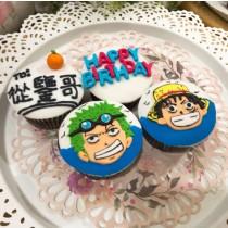 航海王 生日蛋糕 4顆組 魯夫 索隆